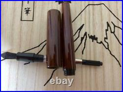 Aizu Handmade Japanese Lacquer Fountain Pen Red SS Nib/EF pre-owned