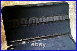 Amazing Hand Made Fountain Pen Traveler Case in Genuine Black Leather (#AR4010)