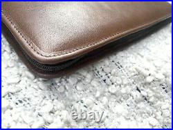Amazing Hand Made Fountain Pen Traveler Case in Genuine Brown Leather (#AR3806)