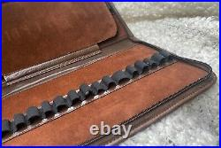 Amazing Hand Made Fountain Pen Traveler Case in Genuine Brown Leather (#AR4011)