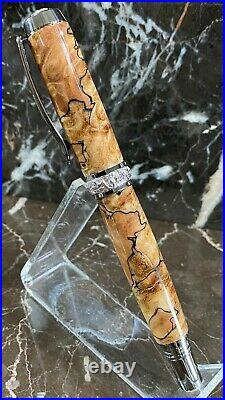 Amazing Spalted Maple Burl Wood Fountain Pen by HTC Creations