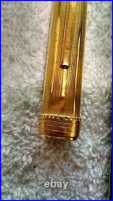 Antique Fountain Pen With Genuine Ruby And Topaz Gold Cap With Castle And Wall