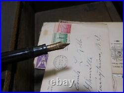 Antique Victorian Lap Desk Inkwell, Fountain Pen, Military Letters 1938-1945