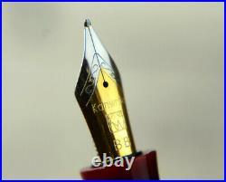Architect BB nib fountain pen with super acrylic barrel Hand turned Rare nib