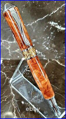 Beautiful Amboyna Burl Wood Fountain Pen by HTC Creations