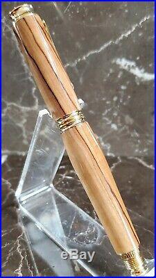 Beautiful Bethlehem Olive Wood Fountain Pen Handmade by HTC Creations