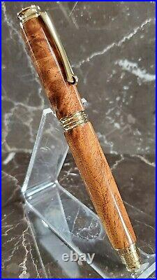 Beautiful Figured Mesquite Wood Fountain Pen Handmade by HTC Creations