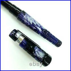 Benu Amethyst Tessera Fountain Pen M Nib Unique Hand Made Mint with Notebook A6