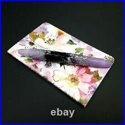 Benu Briolette Luminous Orchid Fountain Pen F Nib Unique Hand Made Notebook A6