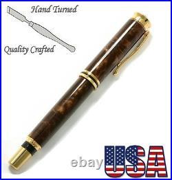 Centauri Fountain Pen in Mink Acrylic & 10ct. Gold #231