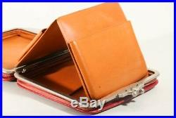 D. R. P 1930's expanding leather pouch / fits about 30 fountain pens 100 Pelikan
