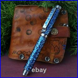 Engraved pen Akinak Lava, titanium EDC gear. Handmade from Russia fountain pen