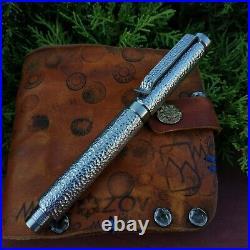 Engraved pen Akinak, titanium EDC gear. Handmade from Russia fountain pen