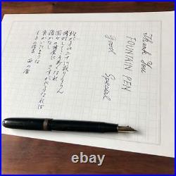 Fountain Pen 70 Years Old Handmade Ebonite Rare Antique Used 417/ME