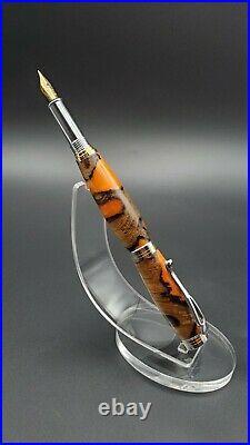 Fountain Pen Handmade With Banksia Nut, 24kt Gold Nib