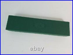 Francesco Rubinato Handmade Glass Fountain Pen Green & Crystal with Paperwork VGC