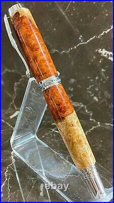 Gorgeous Amboyna Burl Wood Fountain Pen Hand Made by HTC Creations
