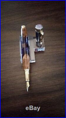 Hand Made Beautiful Purple Butterfly Design Fountain Pen
