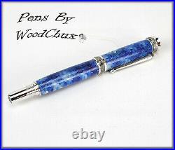 HandMade Writing Pen Ball Point Fountain Aluminum Matrix ART Pens VIDEO 1090a
