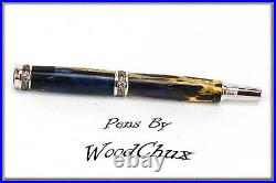 HandMade Writing Pen Ball Point Fountain Cholla Cactus Resin SEE VIDEO 960a