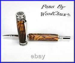 HandMade Writing Pen Ball Point Fountain Exotic Cocobolo Wood SEE VICEO 1132