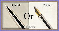 HandMade Writing Pen Ball Point Fountain Maple Burl Wood SEE VIDEO 1202a