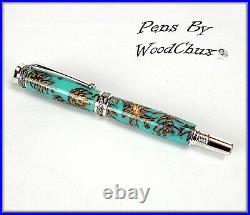 HandMade Writing Pen Ball Point Fountain Mini Pine Cone SEE VIDEO 1155a