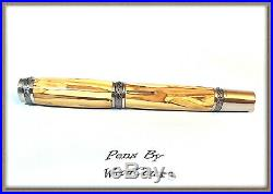 Handmade Apple Wood Writing Rollerball Or Fountain Pen Art SEE VIDEO 877a
