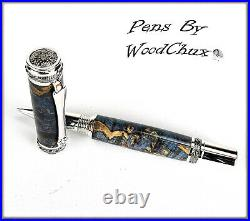 Handmade Boxelder Burl Wood Rollerball Or Fountain Pen ART SEE VIDEO 1170a