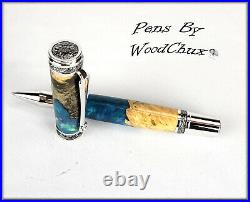 Handmade Buckeye Burl Wood Rollerball Or Fountain Pen ART SEE VIDEO 1171a