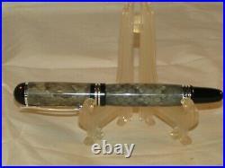 Handmade Chrome Churchill Snake Skin Fountain Pen