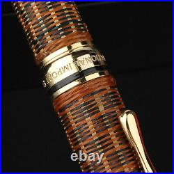 Handmade HERO H671 Fountain Pen Bamboo Weaving Skills Fine 0.5mmWriting Gift Set