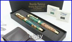 Handmade Irish Wych Elm Pen Set, Fountain Pen and Roller Ball. (194)