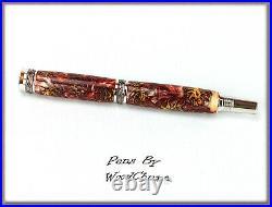 Handmade Mini Pine Cone Writing Rollerball Or Fountain Pen Art SEE VIDEO 580a