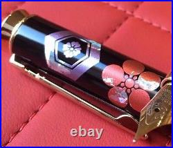 Handmade Modern Maki-e Makie Fountain Pen Limited Edition Rhodium Nib Sakuro