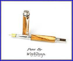 Handmade Rare Ambrosia Maple Wood Rollerball Or Fountain Pen SEE VIDEO 845