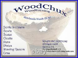 Handmade Rare Black Ash Burl Wood Rollerball Or Fountain Pen SEE VIDEO 844a