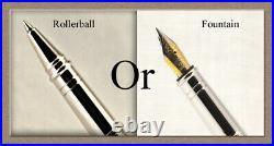 Handmade Rare Black Ash Burl Wood Writing Rollerball Fountain Pen SEE VIDEO 833