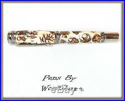 Handmade Rare White Pine Cone Writing Rollerball Fountain Pen SEE VIDEO 870a