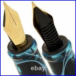 Handmade Small Fountain Pen Art craft Sucre Aquamarine Nib/Schmidt size/F