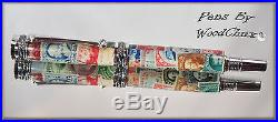Handmade Stamp Collector Writing Rollerball Or Fountain Pen Art SEE VIDEO 630