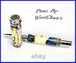 Handmade Stunning Maple Burl Wood Rollerball Or Fountain Pen ART SEE VIDEO 1147a