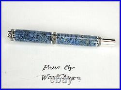 Handmade Stunning Maple Burl Wood Rollerball Or Fountain Pen ART SEE VIDEO 1169a