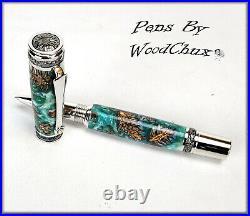 Handmade Stunning Mini Pine Cones Rollerball Or Fountain Pen ART SEE VIDEO 1146