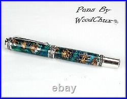 Handmade Stunning Mini Pine Cones Rollerball Or Fountain Pen ART SEE VIDEO 1178a