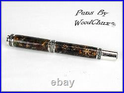Handmade Stunning Mini Pine Cones Rollerball Or Fountain Pen ART SEE VIDEO 1180a