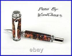 Handmade Stunning Mini Pine Cones Rollerball Or Fountain Pen ART SEE VIDEO 1182