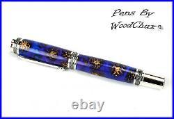 Handmade Stunning Mini Pine Cones Rollerball Or Fountain Pen ART SEE VIDEO 1183