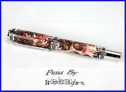 Handmade Stunning Mini Pine Cones Rollerball Or Fountain Pen ART SEE VIDEO 1184
