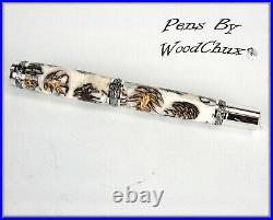Handmade Stunning Mini Pine Cones Rollerball Or Fountain Pen ART SEE VIDEO 1219a